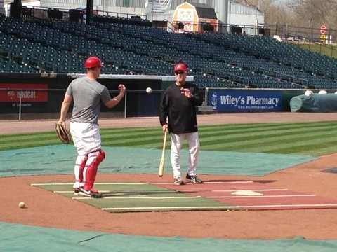 The Lancaster Barnstormers worked out Tuesday morning.