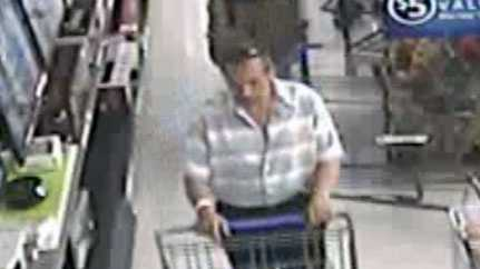 Police released this surveillance photo of the man accused of taking merchandise.