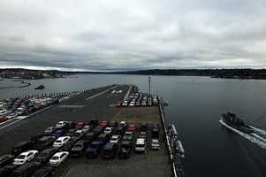PUGET SOUND (March 18, 2013) The aircraft carrier USS Ronald Reagan (CVN 76) gets underway for a homeport change from Bremerton, Wash. to San Diego following a year-long docked planned incremental availability at Puget Sound Naval Shipyard and Intermediate Maintenance Facility.