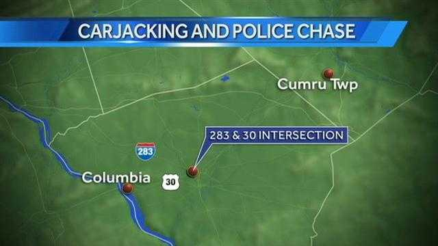columbia carjacking chase