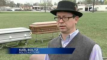 """""""This is truly an oddity type of auction. It's one that is not a real exciting one because of the impact it had on our community,"""" said Karl Boltz of Boltz Auctions."""