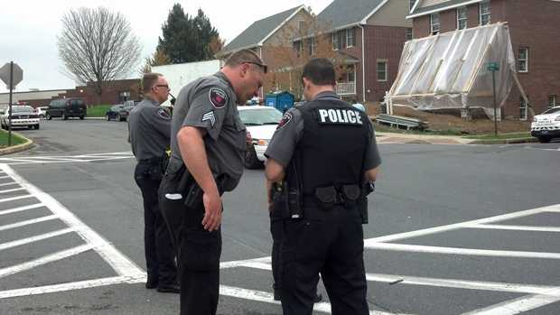 Officers respond to the area around McCaskey High School.