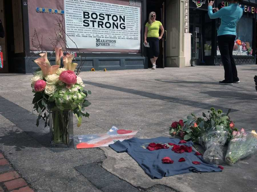 Shapiro took these photos on Boylston Street where the bombings happened.