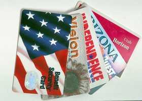 The eligible household receives a plastic card, the Pennsylvania EBT ACCESS Card.