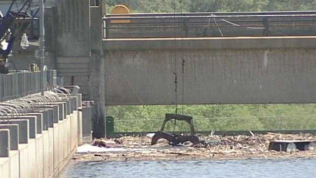 The body was found in a catch gate at Safe Harbor Dam.