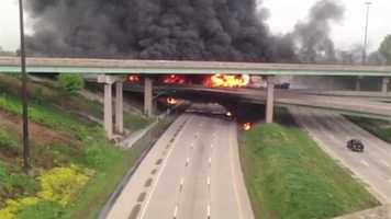 A fiery diesel tanker crash ravages an I-81 overpass on a May morning around 6 a.m.