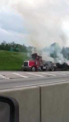 Traffic was already slow in the area due to a major closure of I-81. That road was shut down due to an unrelated tanker crash that happened Thursday morning.