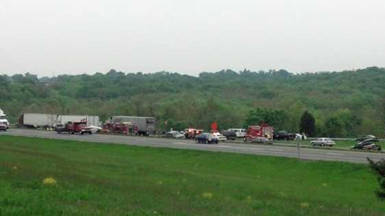 The fatal crash on I-81 involved three tractor-trailers and an SUV.