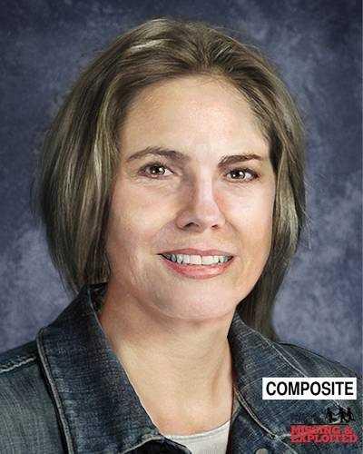 This image shows Sandra age-progressed to 55.
