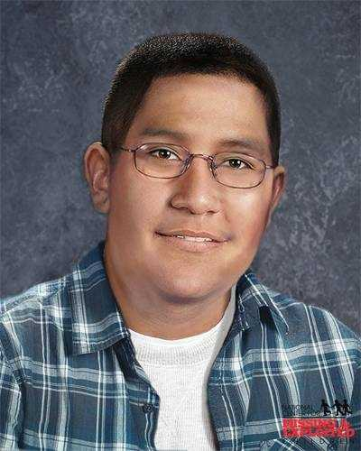 This image shows Nicolas age-progressed to 18.