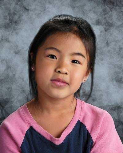 This image shows Ellisya age-progressed to 7.