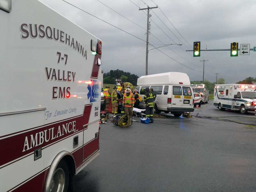 The crash happened at the intersection of Willow Street Pike and Penn Grant Road.