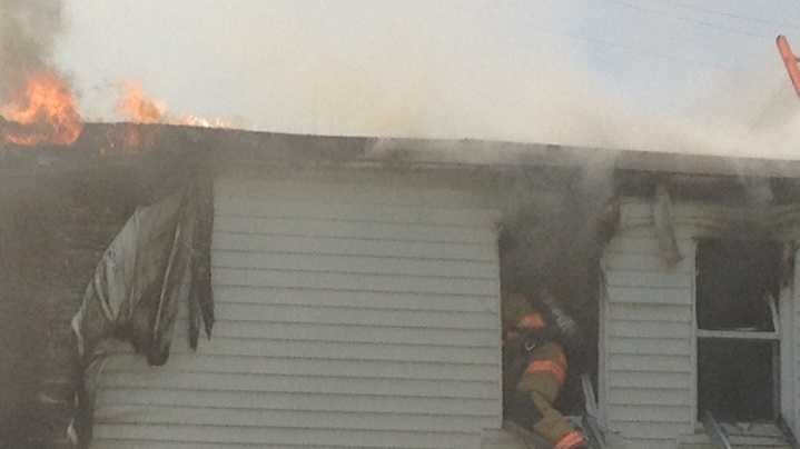 Firefighters battled a fire Friday afternoon in York.