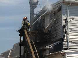 The fire happened at a restaurant along the 700 block of Prospect Street.
