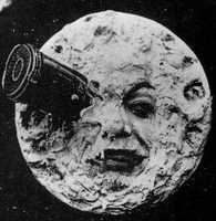 "You probably recognize this image, but do you know what movie it's from? The image is a still from the film A Trip to the Moon. It is a French movie that was made in 1902 by George Melies. ""George Melies' epic fantasies first used the magical properties of cinema itself, such as stop action photography, to spin a new kind of magic that no other artistic medium could achieve,"" says Hagopian."