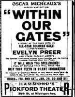 "Within Our Gates (1919, Oscar Micheaux, United State): ""An enormously influential film that relatively few people have ever seen, Within Our Gates established the African American cinema, in a film designed as a riposte to The Birth of a Nation,"" says Hagopian."