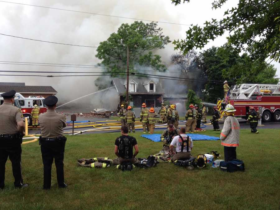 The resident Charles Pike, 82, had just left to go to Yoga class when the house went up.