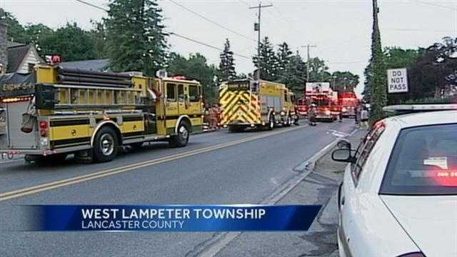A fire in Lancaster County caused half-a-million dollars worth of damage to a garage that used to be the old West Lampeter Township fire house.