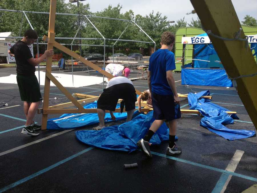 The St. Jospeh's Church Carnival in York County is canceled Thursday night due to storm damage.