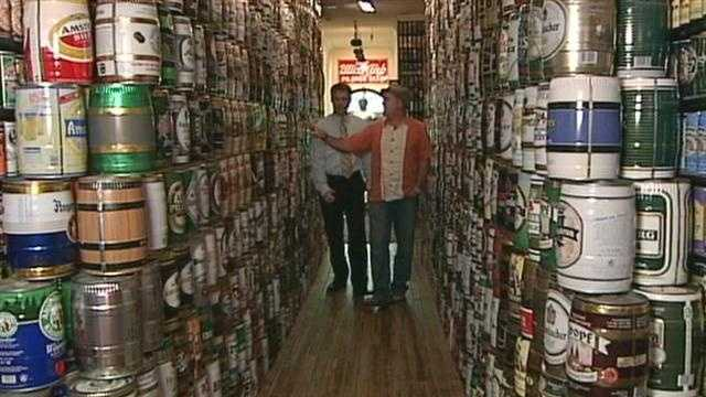Lebo's interest in beer cans started as a kid. His father worked for the American Can Company and Lebo started collecting cans as a teenager.
