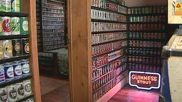 The collection is organized by geography and can type. One room is dedicated to Germany. Every can is different.