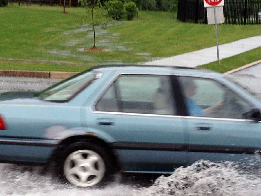 Drivers are urged to not drive on flooded sections of roads.