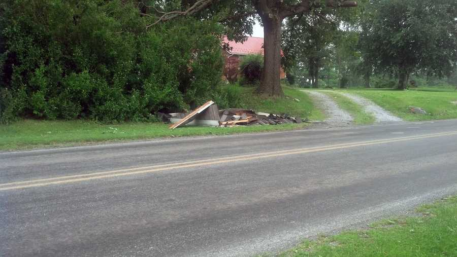 News 8's Katelyn Smith took these photos Tuesday of damage the microburst caused on Monday evening.