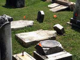 Mount Olivet Cemetery in Penn Township, York County, is raising money to restore historic gravestones that are toppling.