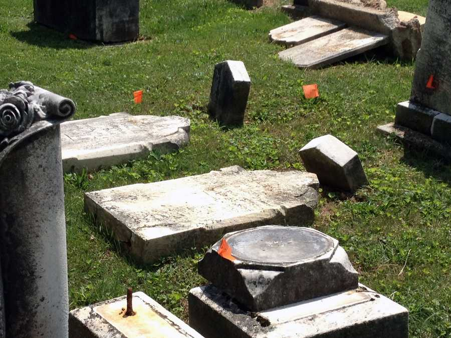 Mount Olivet Cemetery in Penn Township, York County, is raising money to restore historic gravestones that are toppling.