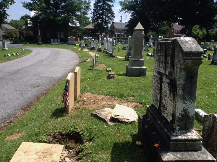 The cemetery's foundation has raised $135,000 since December -- $55,000 will be used for the restoration.