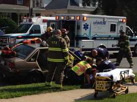 Two cars were involved in a crash Tuesday morning in Spring Garden Township, York County.