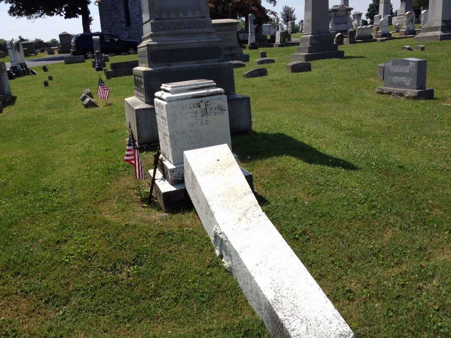 The cemetery near Hanover has been raising money to restore deteriorating gravestones.