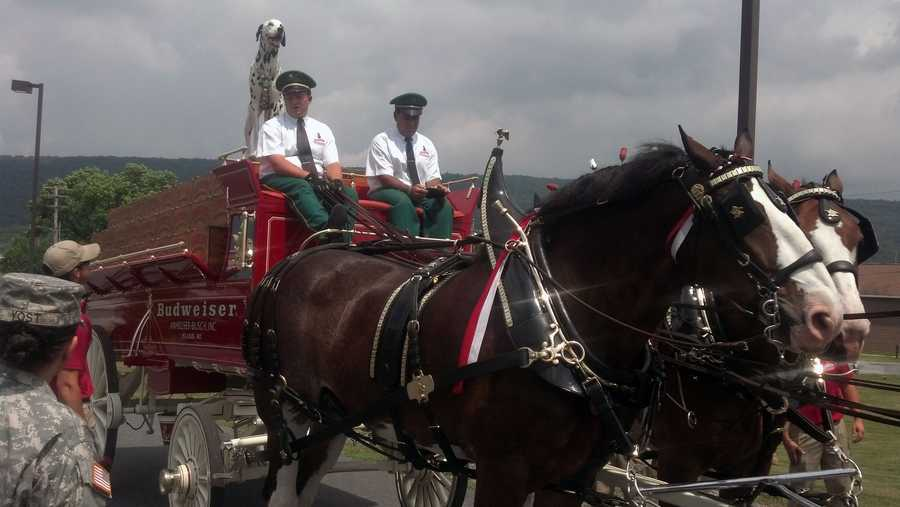 The horses will parade down the Penn National stretch about 5 p.m. Friday and Saturday, weather permitting.
