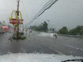 Road flooding in Summerdale, Cumberland County.