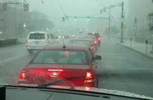 Storm cell moving through Harrisburg, Thursday around 4:50 p.m.