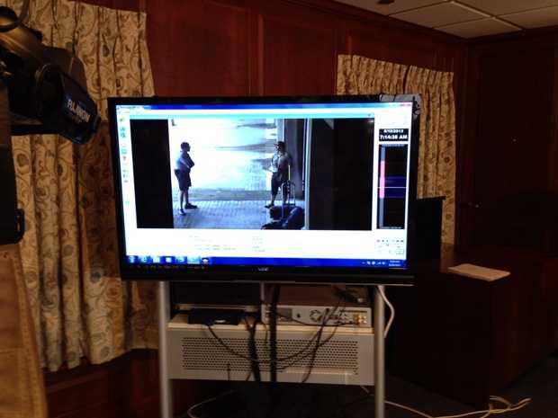 At the news conference officials also showed video of the incident that was caught on surveillance cameras.