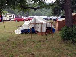This is a Confederate encampment.