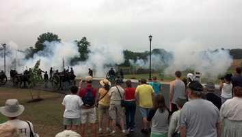 The Gettysburg 150 commemoration gets under way Monday morning in Gettysburg.