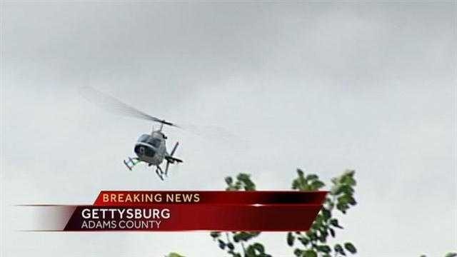 A state police helicopter took part in the search.
