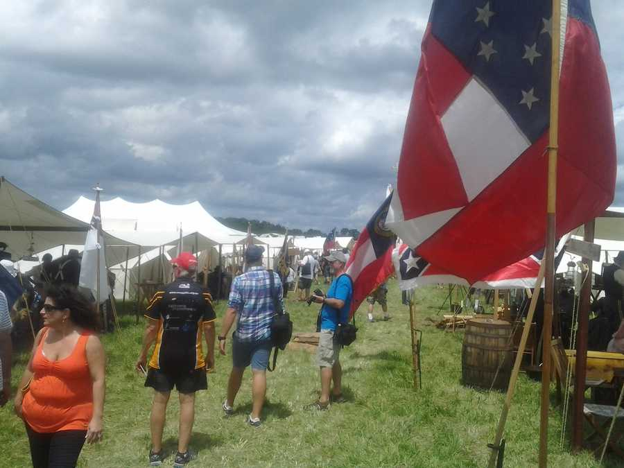 Thursday, July 4, encampment at Redding Farm.