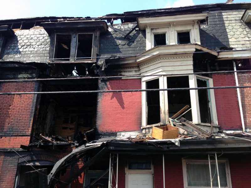 The first fire broke out in the 2000 block of Susquehanna Street and was discovered about midnight by police officers who had been called to the area for a report of suspicious activity.