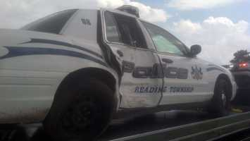 The Reading Township Police Department only has two other vehicles.