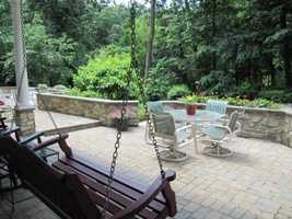 The home also sits on a 6.2 acre private wooded lot.