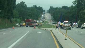 Around 5 p.m. a fatal crash happened on one of the detour routes.