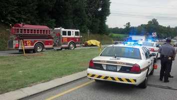 That crash happened on Route 22 near Bullfrog Road.