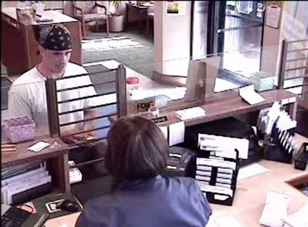 Police said the man presented a note to the teller demanding cash.