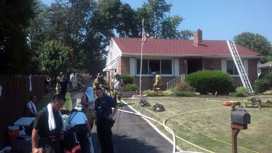 Firefighters battled a blaze Wednesday afternoon in North Middleton Township, Cumberland County.