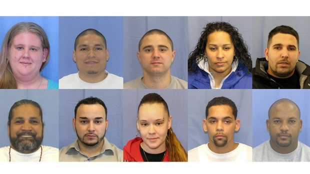 Twelve people are charged in connection with a heroin ring that was allegedly operating in the Susquehanna Valley.