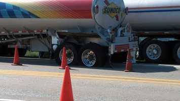 A minivan crossed the center line, struck a tanker truck and a third vehicle in Lower Allen Township, Cumberland County.