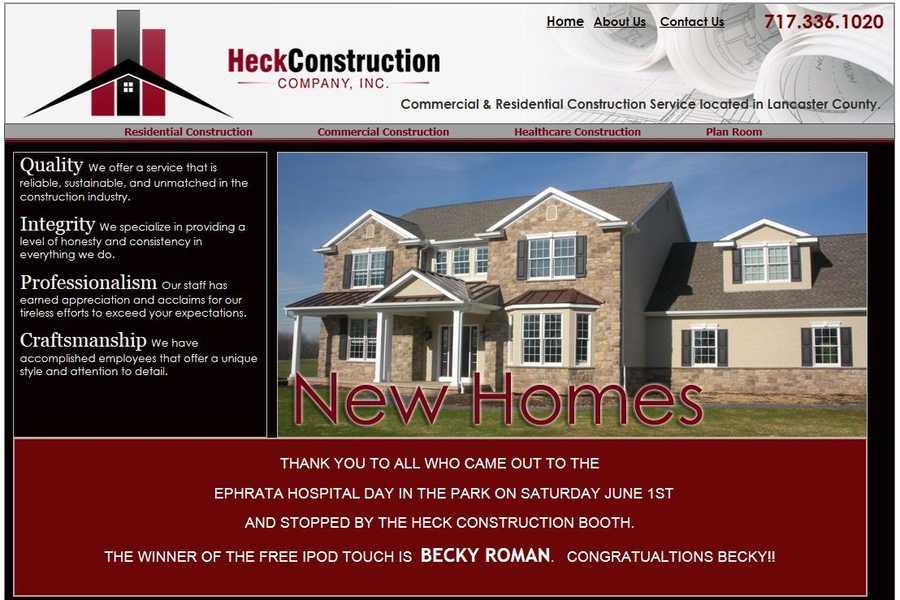 Heck Construction Company, Inc., Denver, Lancaster County.
